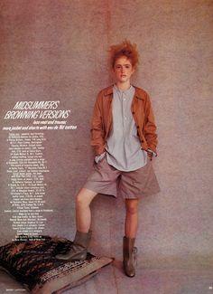 Midsummer's Browning Versions I Vogue UK I July 1981 I Model: Maria Von Hartz, Editor: Grace Coddington, Photographer: Barry Lategan.