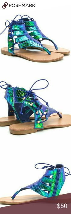 Side zip Sandals blue and green SHIPPED WITH BOX Side zip  Between the toe sandals  READY TO SHIP TODAY WITH TRACKING INFORMATION PROVIDED FOR ALL ORDERS ☆ ☆  . .. #isitsummeryet #fashion #musthaves #accessories #summerbreak2k17 #blueandgreen #sandals #flipflop #goodmorning #weekendupdate #unicorn #beauty #summer #gypsy #boho #summer #vacation #outoftown #girlstrip Shoes Sandals