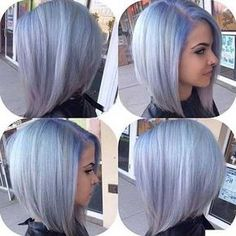 20 Cute Hair Colors for Short Hair – Latest Bob HairStyles  Pretty periwinkle inspiration