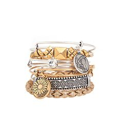 @Who What Wear - Alex and Ani Bangles  Don't be surprised if you steal this from mom for your own wardrobe.