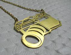 Camera Necklace - Vintage Camera Charm - handmade jewelry brass. $18.00, via Etsy.