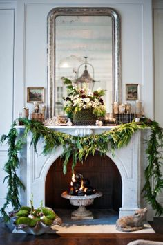 Fresh Green and White Christmas via LOVE LETTERS TO HOME.