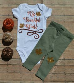 nice Be thankful Y'all, Baby Girl thanksgiving outfit, 1st Thanksgiving Outfit, Girls...