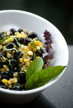 Corn and Blueberry Salad by houseboat eats - Had something similar (plus red peppers) at a bbq this weekend. Perfect summer bbq side dish - light & delicious! - JM