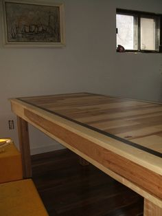 I have a table similar that my Dad made from the hardwood floors of my Grandmother's home....its beautiful and I will treasure it for a lifetime =)