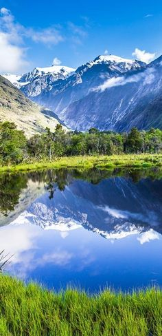 Mirror lake, The South Island, New Zealand