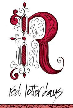 fancy letter r design