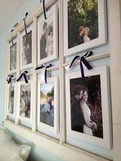 Window Frame Picture Display | Nesting on a Budget. I have a empty window frame I could use for this.