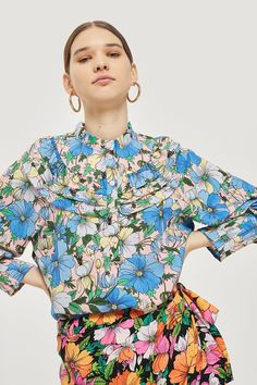 c03c6b72bd6 Heavy Petal Tuck Blouse - New In Fashion - New In - Topshop Europe