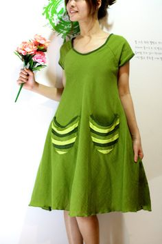 My Day Dress in Green by LadyTA on Etsy, $38.00