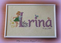Nombre infantil a punto de cruz-Irina