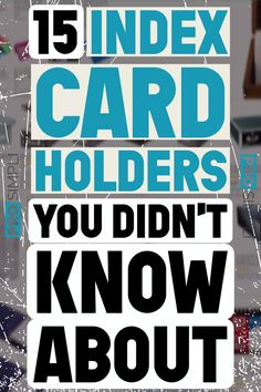 Who Knew? There are a lot of different index card holders. In this post, we'll go over every type of index card holder, explain their purpose, and when you would use each. Flylady, Desk Organization Diy, Organizing Clutter, Card Organizer, Organiser, Index Card Holders, Diy Note Cards, Study Cards, Index Cards
