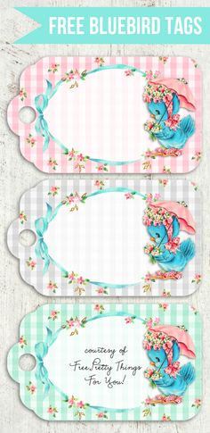 Free Vintage Bluebird Tags - Free Pretty Things For You