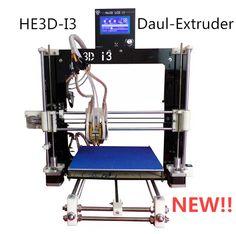 He3d dupla extrusora impressora 3D kit diy Reprap Prusa I3 cabeças dobro impressão de duas cores de alta resolução LCD(China (Mainland))