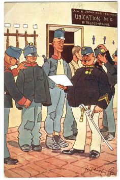 Military Art, Military Uniforms, Austro Hungarian, War Photography, Kaiser, Bavaria, First World, Caricature, Austria