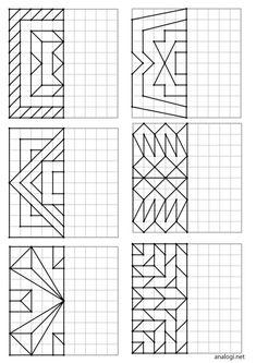 Kids Math Worksheets, Preschool Activities, Visual Perception Activities, Art Education Projects, Graph Paper Art, Graph Design, Elements And Principles, Coding For Kids, Sketch Design