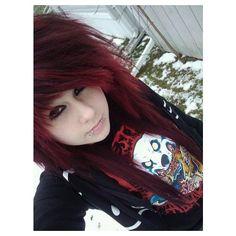 Girls With Red Hair, Hair Girls, Cute Emo Girls, Punk Girls, Emo Scene Hair, Hairstyles Haircuts, Scene Hairstyles, Scene Girls, Dye My Hair