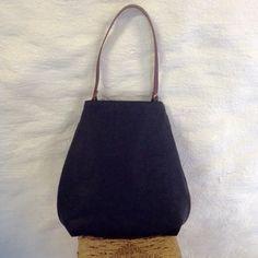 Waxed Zipper Curved Bag, www.alannahbrid.com