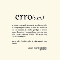 Errar... Pra aprender!