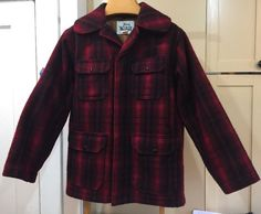 Woolrich Vintage Buffalo Red Plaid Wool Canvas Lined Hunting Coat Mens Sz 40    eBay