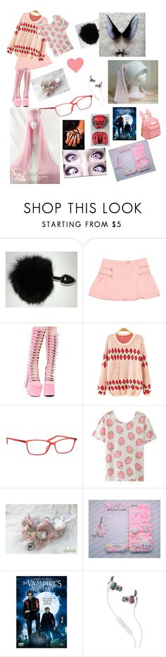 """""""Cirque du Freak: The Vampire's Assistant (OC bunny girl)"""" by gam-gam ❤ liked on Polyvore featuring Moschino Cheap & Chic, Current Mood, Italia Independent, cutekawaii and Skullcandy"""