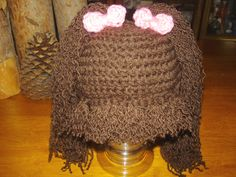Baby beanie cabbage patch hat. $25.00, via Etsy.