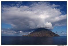 #Stromboli #island #Sicily - A small island containing one of the three active #volcanoes in #Italy. Has been erupting continuously for 2,000 years. Get some great #trip_ideas and start planning your next trip! See More: RoutePerfect.com