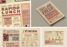 On the Creative Market Blog - 50 Restaurant Menu Designs That Look Better Than Food
