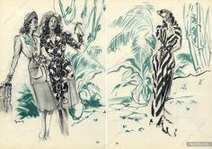 Robert Piguet 1945 Brénot Fashion Illustration