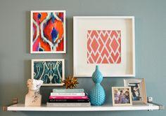 belle maison blog- Julie Thigpen's home office