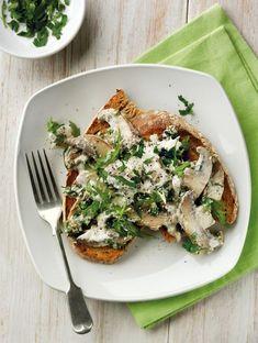 mushrooms on toast, fabulous baker brothers, quark
