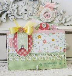 Pocket Card by Melissa Phillips for Papertrey Ink (March 2012)