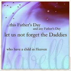 Blessed Father's Day - Daddies Who Have a Child in Heaven