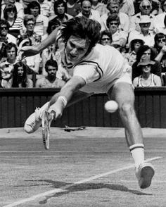 : Jimmy Connors in motion Action Pose Reference, Pose Reference Photo, Figure Reference, Body Reference, Action Poses, Human Poses, Male Poses, Jimmy Connors, Tennis Photos