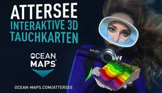 Attersee Scuba Maps by Ocean Maps Maps, Ocean, Bike Rides, Diving, Vacation, Blue Prints, The Ocean, Map, Sea