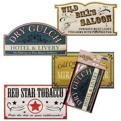 Old West Sign Props-4 Pack | Windy City Novelties