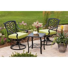 Better Homes and Gardens Hillcrest 3-Piece Outdoor Bistro Set. This is what I want but I will not buy it from them!
