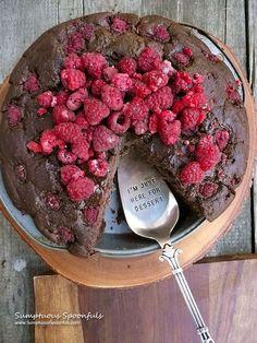 Chocolate Raspberry Ricotta Cake