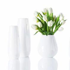 Vase en céramique en forme de goutte blanc EASE Asa Selection
