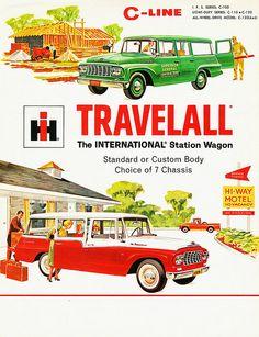International Travelall Station Wagon- not a dodge but still cool Vintage Trucks, Vintage Ads, Vintage Posters, Retro Ads, Old Advertisements, Car Advertising, Station Wagon, Cool Trucks, Cool Cars