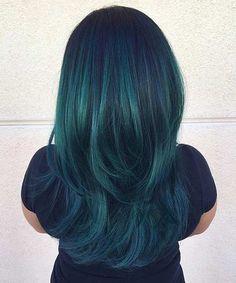 Jewel Tone Teal Mermaid Hair