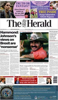 Herald ( Friday September 7 2018) #news #newspaper Herald News, Bbc Drama, Burt Reynolds, Independent School, September 7, Newspaper, Religion, Friday, Faith