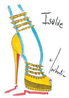 Louboutin sketch for my favorite shoes ever