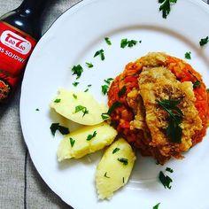 #zawszesmacznie czyli tradycyjna rybka po grecku z kroplą orientu. Fajna, kulinarna odmiana dzięki #taotao :) #food #instafood #dinner #fish #vegetables #rybapogrecku z @taotao_harmoniasmakow