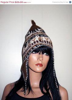 SUPER Cute Peruvian Alpaca Flap Hat by RadicallyRetro on Etsy