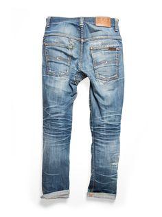 Thin Finn Dry Ecru Embo - Nudie Jeans Online Shop