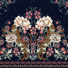 Carolê Marques on Behance Border Design, Pattern Design, Behance, Textile Design, Embroidery Designs, Print Patterns, Textiles, Creative, Projects