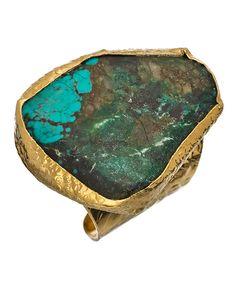 aqua turquoise cigar ring