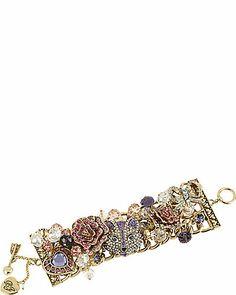 IMPERIAL FOX ROSE TOGGLE BRACELET PURPLE accessories jewelry bracelets fashion