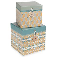 2 scatole cubiche in cartone L12 e L15 cm FARADAY
